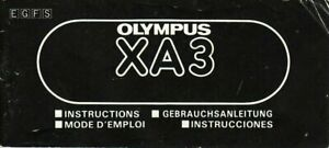Olympus XA3 Genuine Instruction Book, User Manual, Guide, Instructions