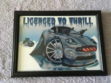 Koolart Licenced to Thrill 007 James Bond Print Framed