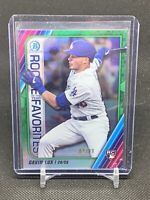 2020 Bowman Chrome Gavin Lux Rookie Of The Year Favorites Green Refractor /99