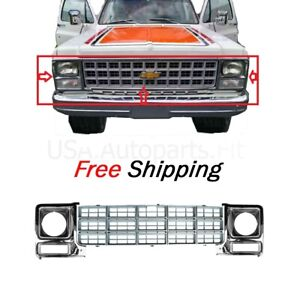 79-80 Chevy GMC Pickup Truck Front Grille Upper Molding