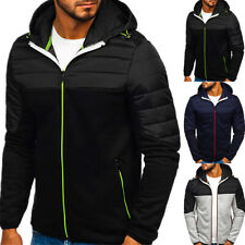 Mens Winter Jacket  Zipper Hoodie Coat Casual Sports Work Outwear Sweatshirt Top