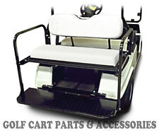 Club Car DS Golf Cart Rear Flip Seat Kit (1982-2000.5)  *WHITE SEAT CUSHIONS*
