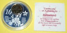 Switzerland 1 Coin(gilded)+Medal 40mm, 31g, Proof Like + Zertifikat