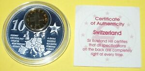Switzerland 1 Coin(gilded)+Medal 40mm, 31g, Proof Like + Zertifikat