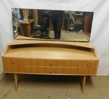 Retro Light Oak Dressing Table - Vintage - Mid Century