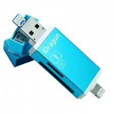 3 in1 Flash Drive USB Micro SD SDHC TF Card Reader for iPhone iPad Android Phone