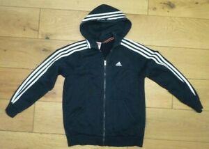 Adidas Hoodie Jacket - Black- XL Youth 14-15 yrs