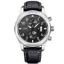 Sinobi Mens Pilot Aviation Military Sport Date Chronograph Quartz Wrist Watch