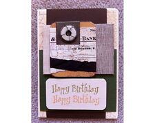 Handmade HAPPY BIRTHDAY Greeting Card with tags, washers and artistic wire