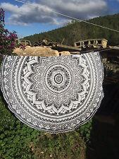 72 Inch Ombre Round Mandala Art Tapestry Decor Wall Hanging Beach Throw Yoga Mat