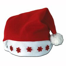 Christmas LIGHT-UP SANTA HAT costume party accessory Photo Prop