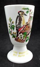 EUC 1984 Volksmarch Porcelain Cup Chalice w/ Woodpecker Design Wanderung Germany