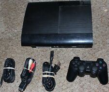 Sony Station 3 SuperSlim Edition 500GB Black CECH-4001C Console System PS3 Works