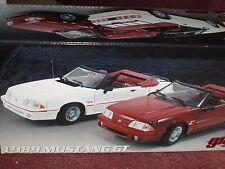 GMP 1989 FORD MUSTANG GT CONV BURGANDY/BLACK 1/18