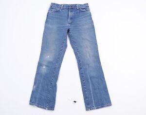 Vintage 90s Streetwear Men 32x30 Distressed Straight Leg Western Denim Jeans