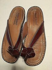Women's Summer Josef Seibel Brown Leather Sandals,Slides,FlipFlops,NewWOTs,Sz.10