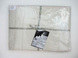 LIBECO HOME 3-PC KING DUVET Set WHITE Sand 100% Belgian Linen NEW
