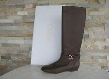 Lujo Chloé Chloe botas talla 41 botas zapatos Shoes marrón nuevo ex PVP 650 €