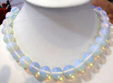 8mm Clear Sri Lanka Moonstone Gemstones Round Loose Beads Necklace 18""