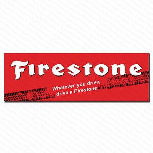 Firestone Tyres Vinyl PVC Banner Garage Business Workshop Trackside Sign 6ftx2ft