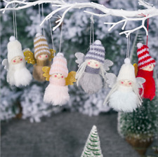 Mini Cute Plush Angel Girl Christmas Tree Pendants Ornaments Home Decoration