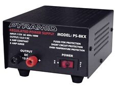 New Pyramid PS8KX Heavy Duty 6 Amp Constant Regulated AC/DC Power Supply