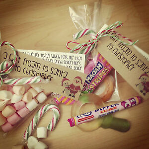 Personalised Christmas Stocking Filler Adult/Children Sweets Candy Snowman Poo