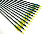 """12 Shiny Black® 32"""" Fiberglass Target Practice Arrows, Replaceable Screw-In Tip"""