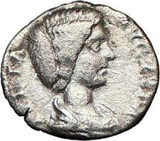 JULIA DOMNA Geta & Caracalla mom Silver Roman Coin VENUS Fertility Cult   i18620