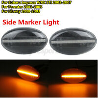 LED Fender Light Turn Signal indicator Clear For Subaru Impreza WRX STI Forester
