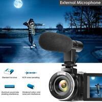 Videokamera 4K Ultra HD 48MP Digitaler Camcorder Weitwinkelobjektiv