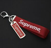 NEW Supreme Red Lanyard Keychain Key Ring