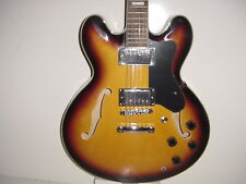 New Semi Hollow Body 6 String Electric Guitar Memphis Jazz Sunburst