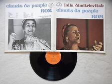 """LP LALIA DIMITRIEVITCH """"Chants Du Peuple Rom"""" LE CHANT DU MONDE LDX 74527 FR §"""