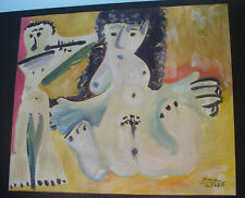 ORIGINAL PICASSO PAINTING WITH COA--SIGNED WITH GALLERY STAMP