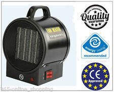 2KW Electric Ceramic PTC Industrial Fan Air Space Heater Workshop Garage No Gas