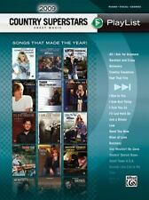 2009 Country Superstars Sheet Music Playlist For Piano Vocal Chords Book, Hal Le