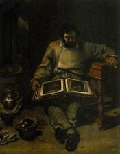 """Gustave Courbet """"Marc Trapadoux examinant un livre d'estampes"""" lithograph"""