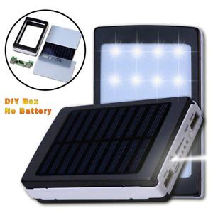 Power Bank 18650 Solar 5x18650 DIY Box Dual USB Kit Phone Charger Flashlight X C