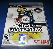 NCAA Football 14 Sony PlayStation 3 *Factory Sealed! *Free Shipping!
