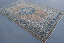 "Turkish Vintage Handmade Anatolian Distressed Area Rug Carpet 138""x82"""