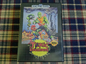 Toxic Crusaders - Authentic - Sega Genesis - Case / Box Only!
