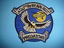VIETNAM WAR PATCH,  US A COMPANY 7th BATTALION 101st AVIATION RGT PREDATORS