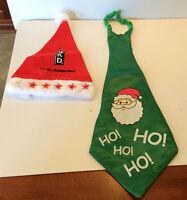 Rare Adult Santa Claus Christmas LED Party WKD Hat & Novelty Christmas Tie