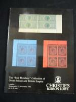 CHRISTIES LOWE AUCTION CATALOGUE 1991 GB & EMPIRE 'IVOR MOWBRAY' COLLECTION