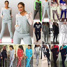 Damen 2tlg Set Trainingsanzug Jogginganzug Sport Hausanzug Fitness Jogginghosen