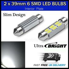 2 x LED NUMBER PLATE LED 39MM 6SMD C5W 5630 ERROR FREE 239 C5W INTERIOR BULBS