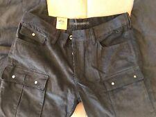 Sean John Mens Corduroy Pants Style Black Cotton Casual Slim Fit size 36