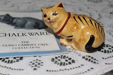 "Franklin Mint. ""Chalkware Curio Cabinet Cat"" Figurine"