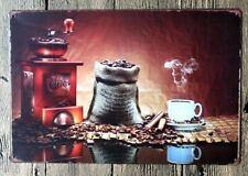 Coffee Bean Espresso Metal Tin Sign Garage Rustic Man Cave Poster Bar Wall Decor